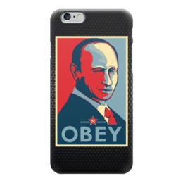 "Чехол для iPhone 6 ""Путин (Obey)"" - россия, путин, президент, putin, рф"