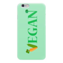 """Чехол для iPhone 6 глянцевый """"Vegan"""" - веган, вегетарианство, овощи, vegan"""