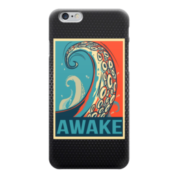 """Чехол для iPhone 6 """"Осьминог (Awake)"""" - octopus, осьминог, obey, awake"""