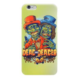 """Чехол для iPhone 6 глянцевый """"Тупой и ещё тупее, зомби арт"""" - кино, zombie, зомби, комедия, тупой и ещё тупее"""