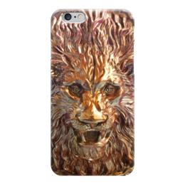 """Чехол для iPhone 6 """"Golden Leo"""" - лев, leo, металл, золотой, golden"""