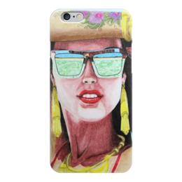 """Чехол для iPhone 6 """"Девушка в очках"""" - арт, девушка, лето, море, очки"""
