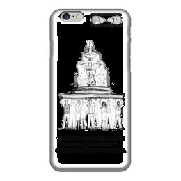 """Чехол для iPhone 6 глянцевый """"фонтан финансового успеха!"""" - люди, фонтан, финансовый успех"""