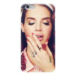 """Чехол для iPhone 6 глянцевый """"LANA DEL REY"""" - музыка, lana del rey, лана дель рей"""