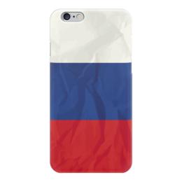 """Чехол для iPhone 6 """"Флаг России (Russia)"""" - россия, russia, флаг россии"""