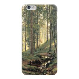 """Чехол для iPhone 6 """"Ручей в лесу"""" - картина, шишкин"""