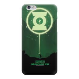 """Чехол для iPhone 6 глянцевый """"Green Lantern/Зеленый Фонарь """" - comics, dc comics, green lantern, зеленый фонарь"""