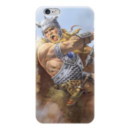 """Чехол для iPhone 6 """"Свирепый воин"""" - воин, свобода, русь, викинг, путь воина"""