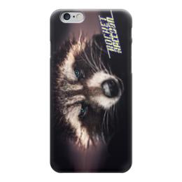 """Чехол для iPhone 6 """"ROCKET RACCOON"""" - взгляд, боец, енот, ракета, стражи галактики"""