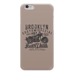 "Чехол для iPhone 6 глянцевый ""Brooklyn Bike"" - байки, байкеры, мото, мотоциклы"