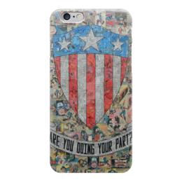 "Чехол для iPhone 6 ""Капитан Америка"" - комиксы, кэп, марвел, captain america"