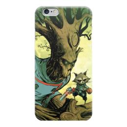 """Чехол для iPhone 6 """"Comics Art Series: Стражи Галактики"""" - енот, марвел, superhero, стражи галактики, грут"""