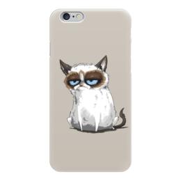 """Чехол для iPhone 6 глянцевый """"Grumpy Cat (Сердитый Котик)"""" - кот, сердитый котик, соус тардар, tardar sauce, grumpy cat"""