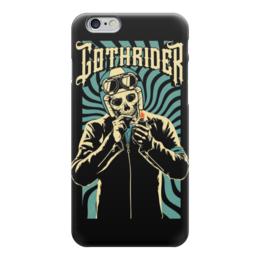 "Чехол для iPhone 6 ""Gothrider"" - череп, байкер, рокер, biker, gothrider"