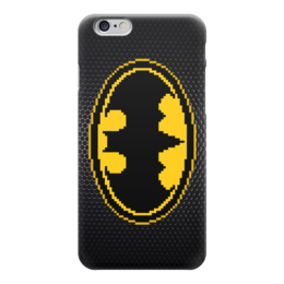 "Чехол для iPhone 6 ""Бэтмен (Batman)"" - batman, бэтмен, пиксель арт, 8-бит, 8-bit"