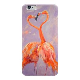 """Чехол для iPhone 6 """"Любовь цвета фламинго"""" - любовь, love, сердца, фламинго"""