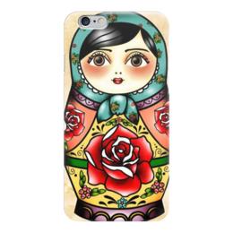 "Чехол для iPhone 6 ""матрешка"" - матрешка, цветы, россия, матрёшка"