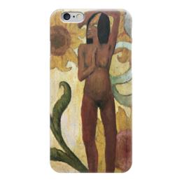 """Чехол для iPhone 6 """"Карибская женщина, или Обнаженная с подсолнухами"""" - картина, поль гоген"""