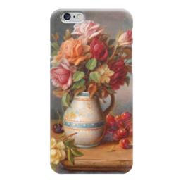 "Чехол для iPhone 6 ""Розы и вишни"" - картина, зацка"