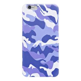 """Чехол для iPhone 6 """"Сине-Белый Камуфляж"""" - армия, камуфляж, camouflage, военный, сине белый камуфляж"""