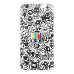 "Чехол для iPhone 6 ""Blood Sweat Vector"" - коллаж, tv, sticker bombing, стикер-арт"