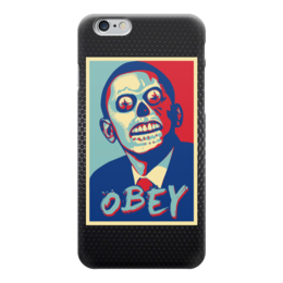 "Чехол для iPhone 6 ""Obama (Obey)"" - зомби, обама, сша, obey, повинуйся"
