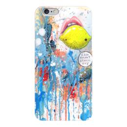 """Чехол для iPhone 6 """"Lemon """" - арт, краски, pop art, лимон, lemon"""