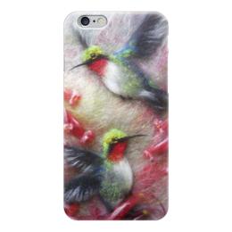 "Чехол для iPhone 6 ""Колибри"" - арт, цветы, птицы, колибри"