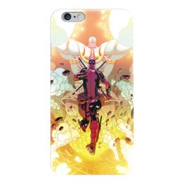 """Чехол для iPhone 6 """"Дэдпул (Deadpool)"""" - комиксы, deadpool, дэдпул, танос, thanos"""