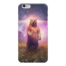 """Чехол для iPhone 6 """"Медведь"""" - космос, русский, россия, вселенная, медедь"""