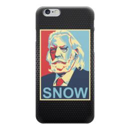 """Чехол для iPhone 6 глянцевый """"Голодные Игры (The Hunger Games)"""" - hunger games, голодные игры, obey, snow"""