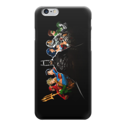 "Чехол для iPhone 6 ""Лига Правосудия (Justice League)"" - flash, супермен, бэтмен, green lantern, лига правосудия"