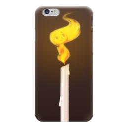 """Чехол для iPhone 6 """"Пламя свечи, арт"""" - арт, огонь, улыбка, пламя, свеча"""