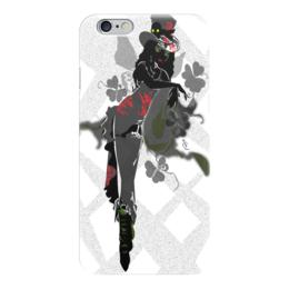 """Чехол для iPhone 6 глянцевый """"Ядовитый плющ."""" - череп, девушка, ядовитый плющ, трилистник, негритянка"""