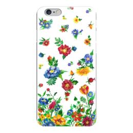 """Чехол для iPhone 6 глянцевый """"Летние цветы"""" - лето, цветочный принт, летние цветы, flowers"""