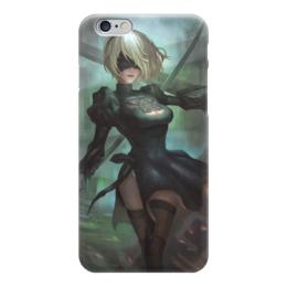 """Чехол для iPhone 6 """"2B Nier"""" - девушка, мечи, nier, 2b"""