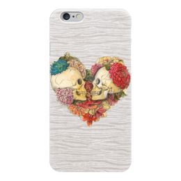 "Чехол для iPhone 6 ""Skull Art"" - skull, череп, сердце, heart, цветы"