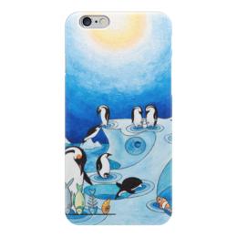 "Чехол для iPhone 6 ""Lollypups #11 (the pinguins) "" - арт, синий, пингвин, positive"