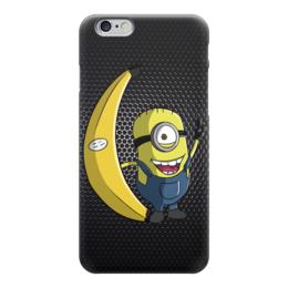 """Чехол для iPhone 6 глянцевый """"Миньон с Бананом (Гадкий Я)"""" - banana, minion, миньон, гадкий я"""