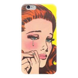 """Чехол для iPhone 6 """"Печалька"""" - девушка, ретро, печаль"""