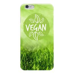 """Чехол для iPhone 6 глянцевый """"Go Vegan!"""" - природа, веган, go vegan"""