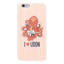 "Чехол для iPhone 6 ""I love udon"" - еда, япония, осьминог, лапша, удон, udon, i love udon"