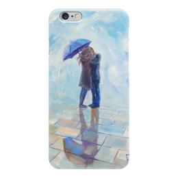 """Чехол для iPhone 6 глянцевый """"Поцелуй под зонтом"""" - любовь, love, поцелуй, kiss"""