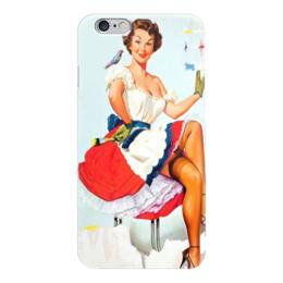 "Чехол для iPhone 6 глянцевый ""girl retro"" - девушка, ретро, retro, pin-up, пинап"