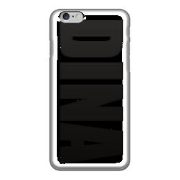 """Чехол для iPhone 6 глянцевый """"с именем Дина"""" - чехол с именем дина, чехол с именем, дина"""
