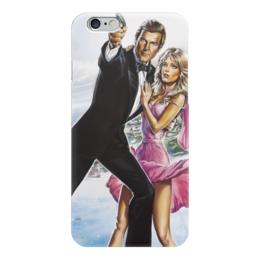 "Чехол для iPhone 6 глянцевый ""Джеймс Бонд (James Bond)"" - 007, агент 007, джеймс бонд, james bond, шпион"