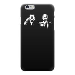 """Чехол для iPhone 6 """"Микки и Дональд"""" - прикольные, криминальное чтиво, pulp fiction, микки и дональд"""
