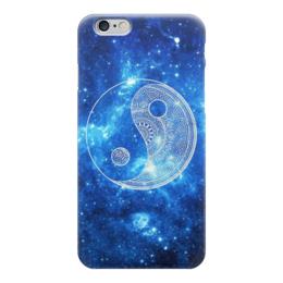 """Чехол для iPhone 6 глянцевый """"инь янь"""" - иньянь, космос"""