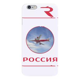 "Чехол для iPhone 6 ""РОССИЯ"" - россия, авиакомпания россия, россия это я, rossiya, rosiya airlines"