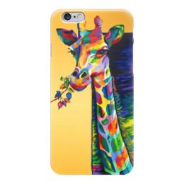 """Чехол для iPhone 6 глянцевый """"Жираф"""" - жираф, животные, природа, арт, любовь"""
